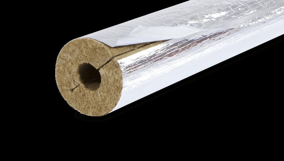 Steinwolle Rohrisolierung mit Aluminiummantel
