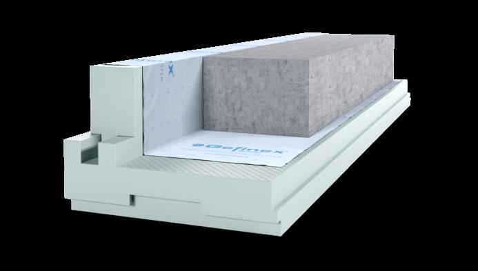 hoch druckfestes System zur Dämmung und Schlung der Bodenplatte oder Fundamentplatte