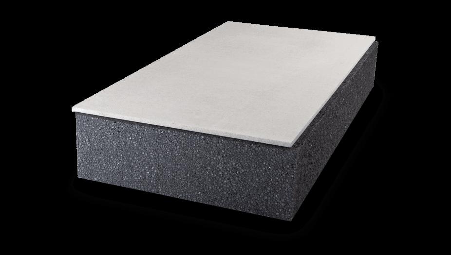 begehbare Dachbodendämmung mit graues Styropor