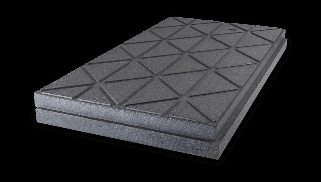 graue UKD-Dämmplatte zum Dämmen des Daches